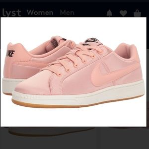 21c89ef4aaa Nike Shoes - Nike Womens Pink Royale Satin Sneakers 7.5